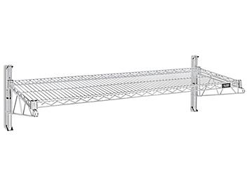 """Wall-Mount Wire Shelving - 48 x 18 x 14"""" H-4796"""