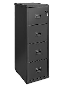 Vertical Fire-Resistant File Cabinet - 4 Drawer, Black H-4806BL