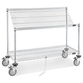 """Wire Tilt Cart - 48 x 18 x 40"""" H-4817"""