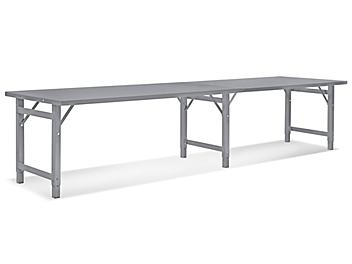 """Steel Assembly Table without Bottom Shelf - 120 x 36"""" H-4838"""