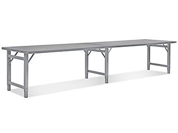 """Steel Assembly Table without Bottom Shelf - 144 x 36"""" H-4839"""