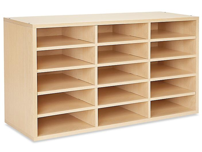 Mail Sorter - Wood, 15 Compartment H-4849