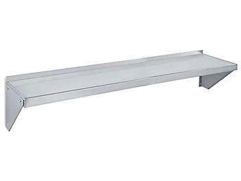 "Aluminum Wall-Mount Shelving - 48 x 12 x 12"" H-4876"