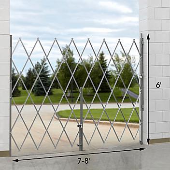 Folding Security Gate - 7-8' x 6' H-4890