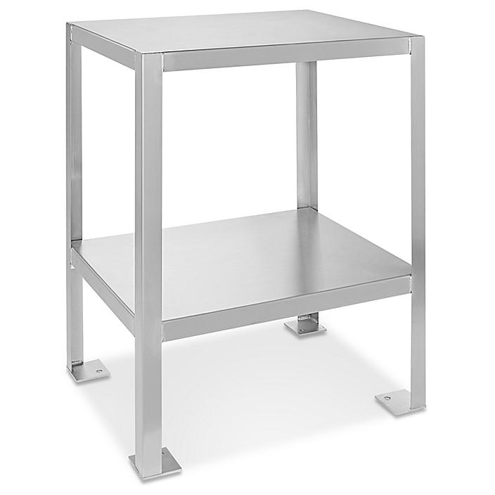"""Welded Stainless Steel Machine Table - 24 x 18"""" H-4913"""