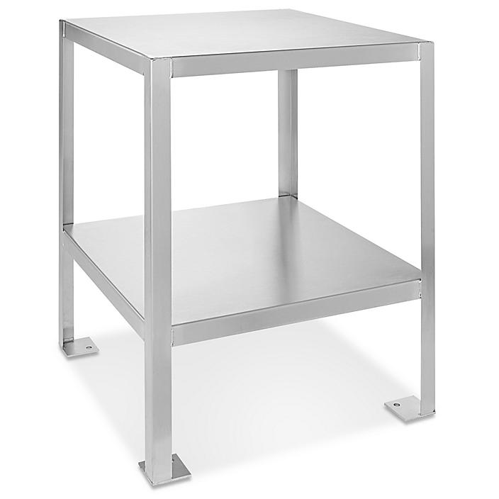 """Welded Stainless Steel Machine Table - 24 x 24"""" H-4914"""