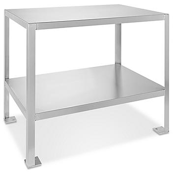 """Welded Stainless Steel Machine Table - 36 x 24"""" H-4915"""