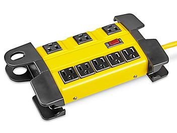 """Industrial Power Strip - 8 Outlet, 10"""" H-4916"""