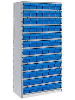 """Closed Shelf Bin Organizer - 36 x 18 x 75"""" with 6 x 18 x 5"""" Bins"""