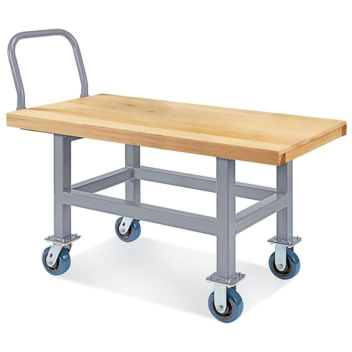 "Work Height Platform Truck - Wood Deck, 24 x 48"" H-4924"