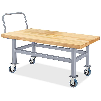 "Work Height Platform Truck - Wood Deck, 30 x 60"" H-4925"