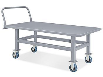 """Work Height Platform Truck - Steel Deck, 30 x 60"""" H-4941"""