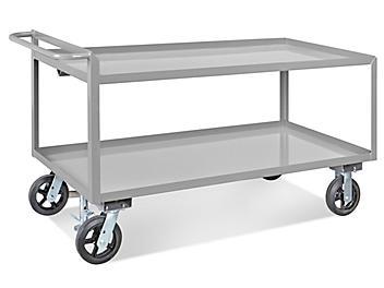 "Uline Jumbo Steel Cart - 66 x 30 x 36"" H-4985"