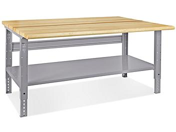 """Jumbo Industrial Packing Table - 72 x 48"""", Maple Top H-4988-MAP"""