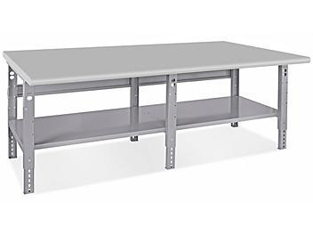 "Jumbo Industrial Packing Table - 96 x 48"", Laminate Top H-4989-LAM"
