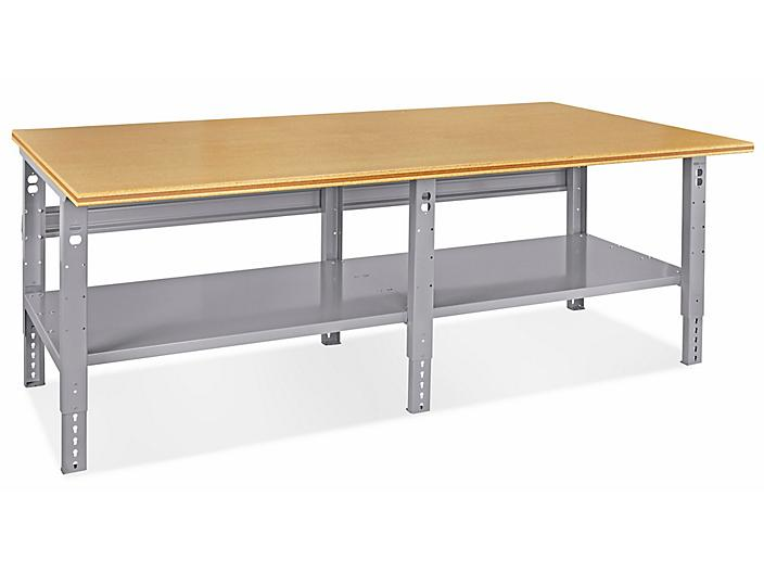 """Jumbo Industrial Packing Table - 96 x 48"""", Composite Wood Top H-4989-WOOD"""
