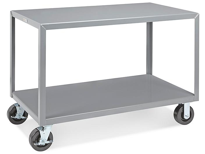 """Mobile Welded Steel Table - 48 x 24"""" H-4995"""