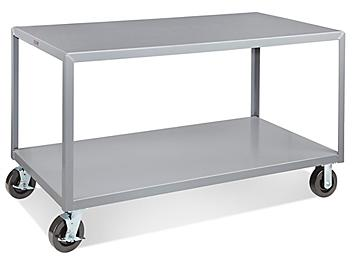 """Mobile Welded Steel Table - 60 x 30"""" H-4996"""