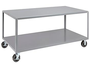 """Mobile Welded Steel Table - 72 x 36"""" H-4997"""