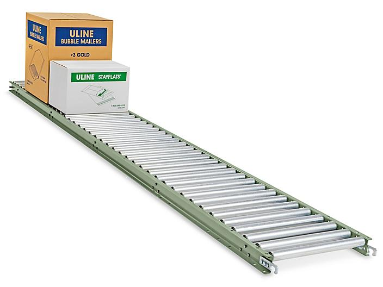 "Gravity Roller Conveyor - Light Duty, 18"" x 10' H-5013"