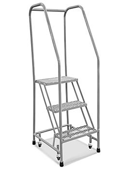 """3 Step Narrow Aisle Ladder - Assembled with 20"""" Top Step H-5071A-20"""