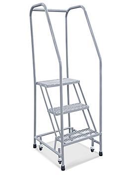"3 Step Narrow Aisle Ladder - Unassembled with 10"" Top Step H-5071U-10"