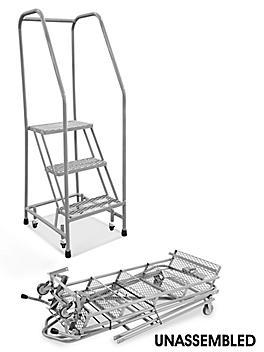 "3 Step Narrow Aisle Ladder - Unassembled with 20"" Top Step H-5071U-20"