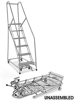 "6 Step Narrow Aisle Ladder - Unassembled with 20"" Top Step H-5074U-20"