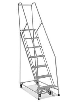 7 Step Narrow Aisle Ladder - Assembled