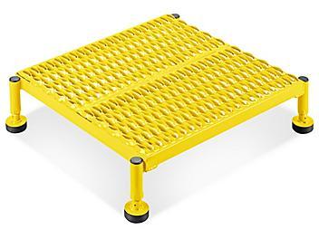"Stationary Work Platform - 24 x 24"", 7-9"" Height, Yellow H-5090Y"