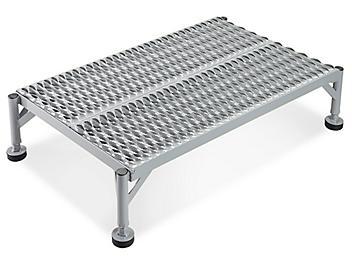 "Stationary Work Platform - 36 x 24"", 10-15"" Height, Gray H-5093GR"