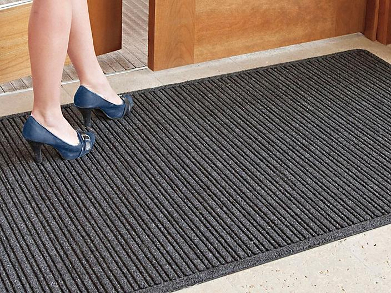 Ribbed Entry Carpet Mat - 3 x 4', Charcoal H-5136GR