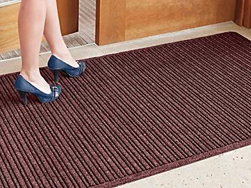 Ribbed Entry Carpet Mat - 4 x 8', Burgundy H-5137BU