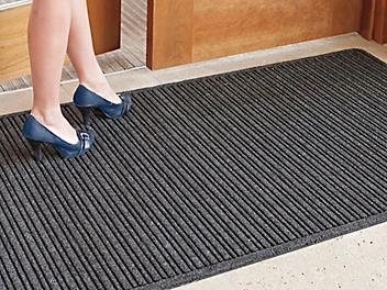 Ribbed Entry Carpet Mat - 4 x 8', Charcoal H-5137GR