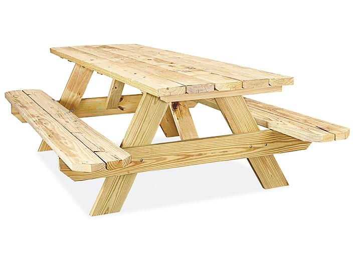 Economy A-Frame Wooden Picnic Table - 8' H-5163