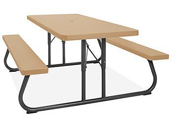 Folding Picnic Table - 6', Tan H-5164T-S1