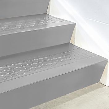 "Stair Tread Risers - Rubber, 72 x 7"", Gray H-5199GR"