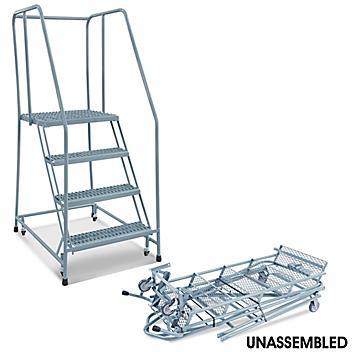 "4 Step Grip Step Ladder - Unassembled with 20"" Top Step H-5227U-20"