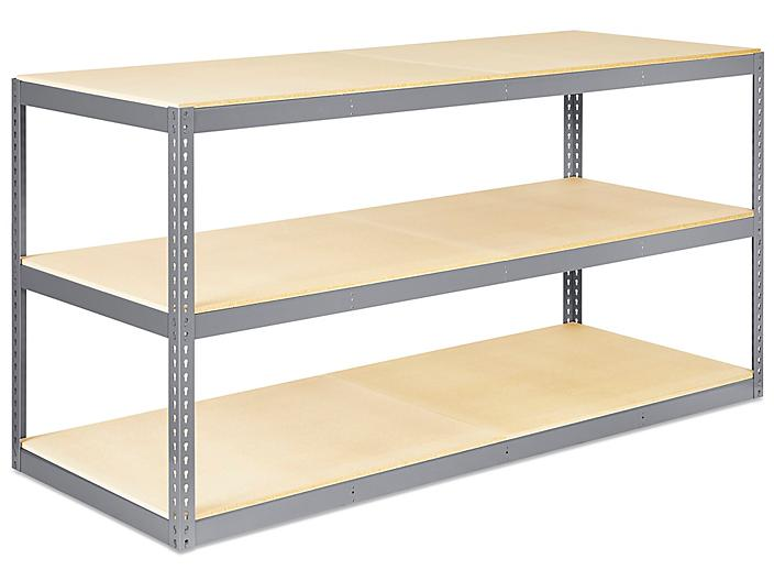 """Wide Span Storage Rack - Particle Board, 96 x 36 x 48"""" H-5305"""