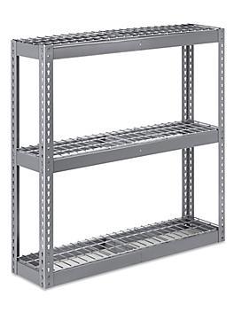 """Wide Span Storage Rack - Wire Decking, 48 x 12 x 48"""" H-5310"""