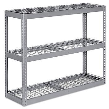 """Wide Span Storage Rack - Wire Decking, 60 x 18 x 48"""" H-5315"""
