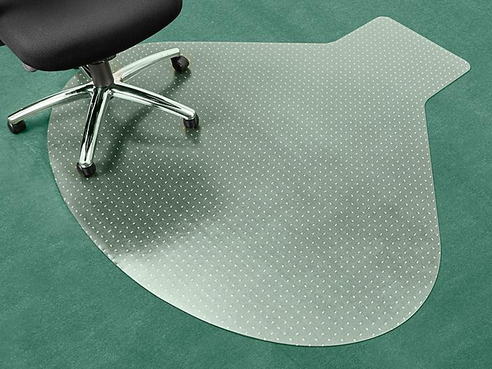 """Workstation Carpet Chair Mat with Lip - 66 x 60"""", Clear H-5342"""