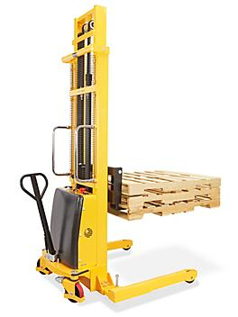"""Semi-Electric Straddle Stacker - 137"""" Lift H-5440"""