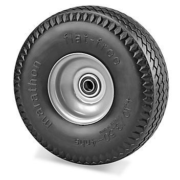 "Uline Flat Free Pneumatic Wheel - 300 lb Capacity, 10"" H-5454"