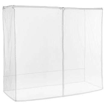 """Mobile Shelving Cover - 72 x 24 x 72"""", Clear H-5465C"""