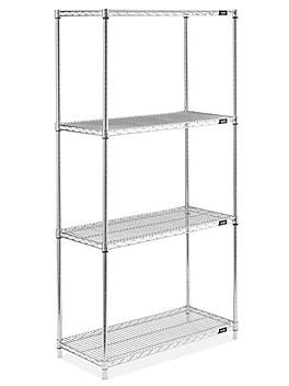 """Stainless Steel Wire Shelving Unit - 36 x 18 x 72"""" H-5479"""