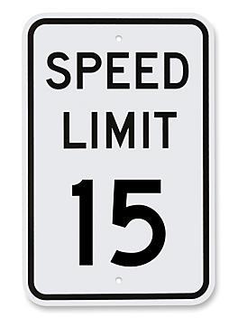 """""""Speed Limit 15"""" Sign - 12 x 18"""" H-5518"""