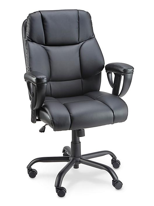 Big and Tall Leather Chair - Black H-5522BL