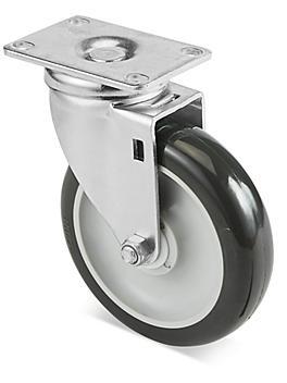 "Standard Polyurethane Caster - Swivel, 5 x 1 1/4"" H-5540S"