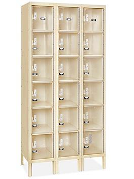 "Clear-View Locker - Six Tier, 3 Wide, Unassembled, 36"" Wide, 18"" Deep"